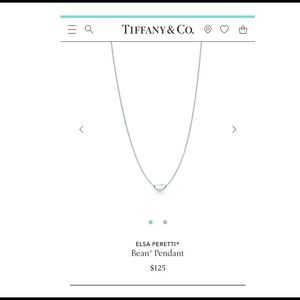 Tiffany and Co. Sterling Silver Bean Pendant